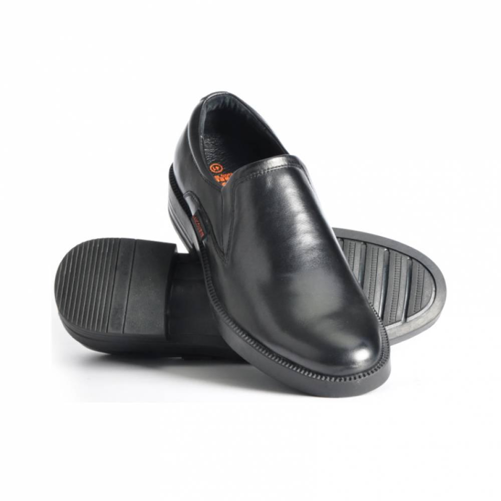 latest style black leather no lace men